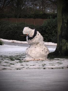 Sad snowman on Commonwealth Ave. | Flickr - Photo Sharing!  |Sad Melting Snowman